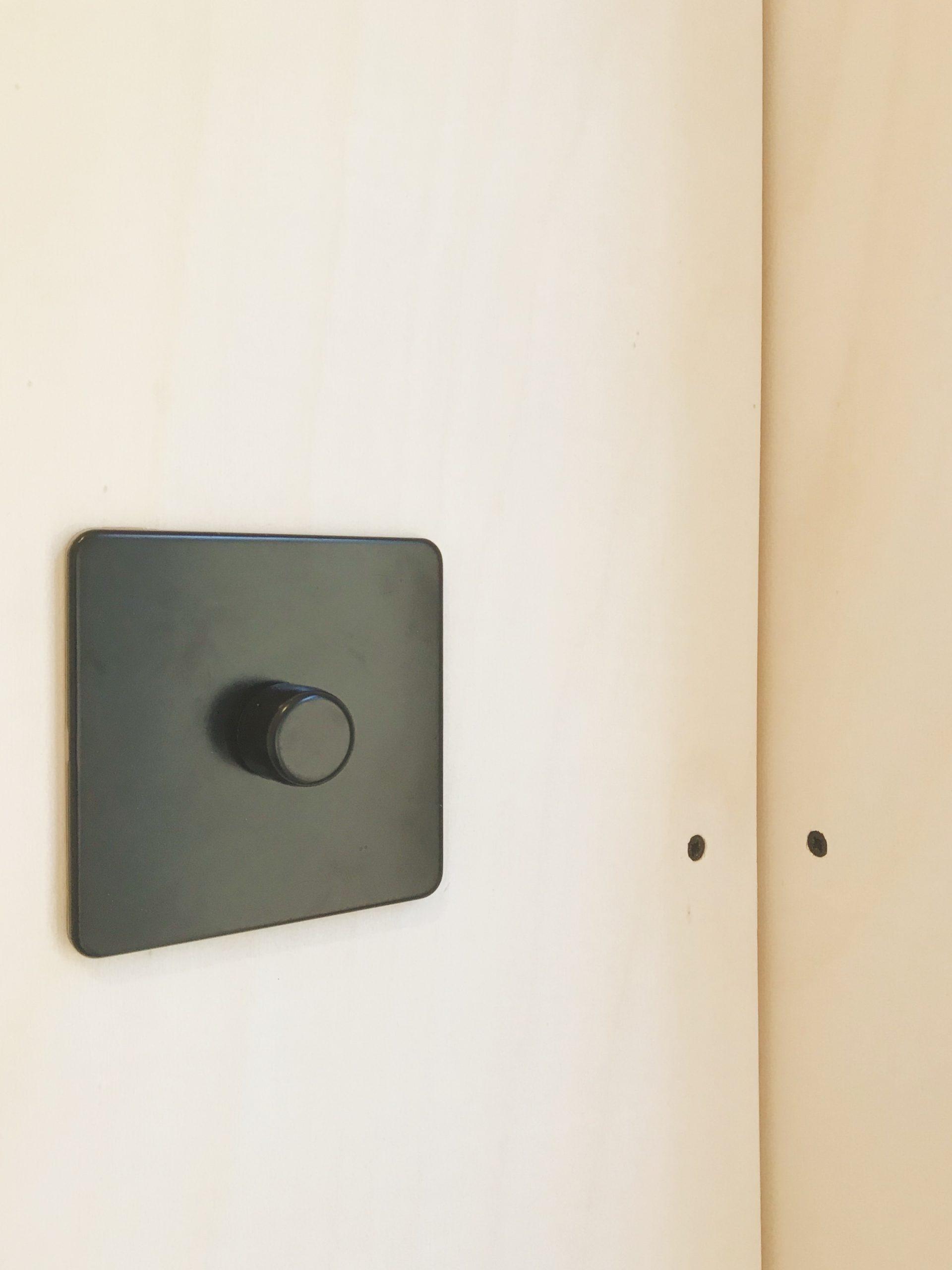 Box Clad Mini Box Matt Black Dimmer Switch
